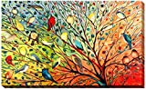 Picture Perfect International ''27 Birds'' by Jennifer Lommers Giclee Stretched Canvas Wall Art, 28'' x 48'' x 1.5''