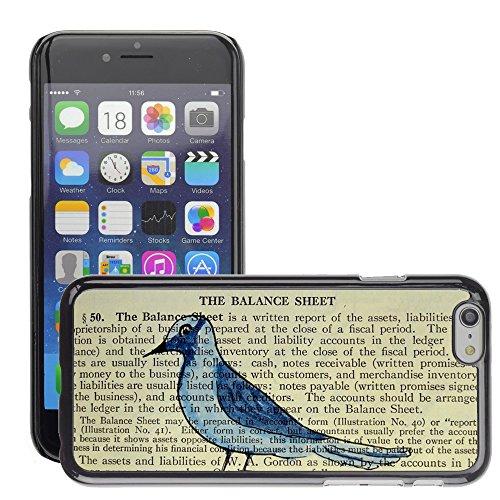 """Just Phone Cases Hard plastica indietro Case Custodie Cover pelle protettiva Per // M00129244 Oiseau livre vintage papier // Apple iPhone 6 PLUS 5.5"""""""