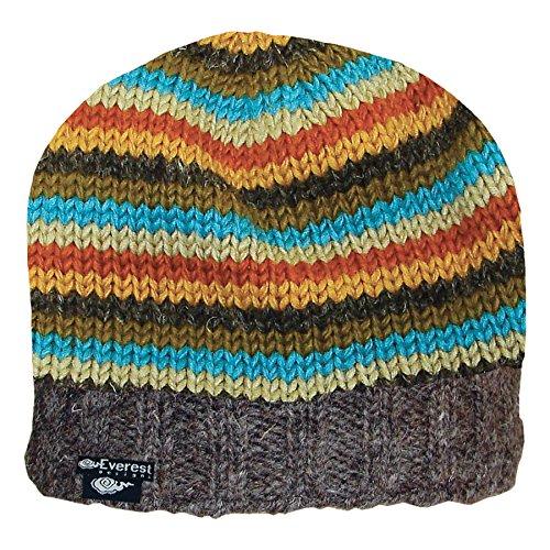 Everest Designs Unisex Half Pipe Beanie, Teal Stripe, One Size