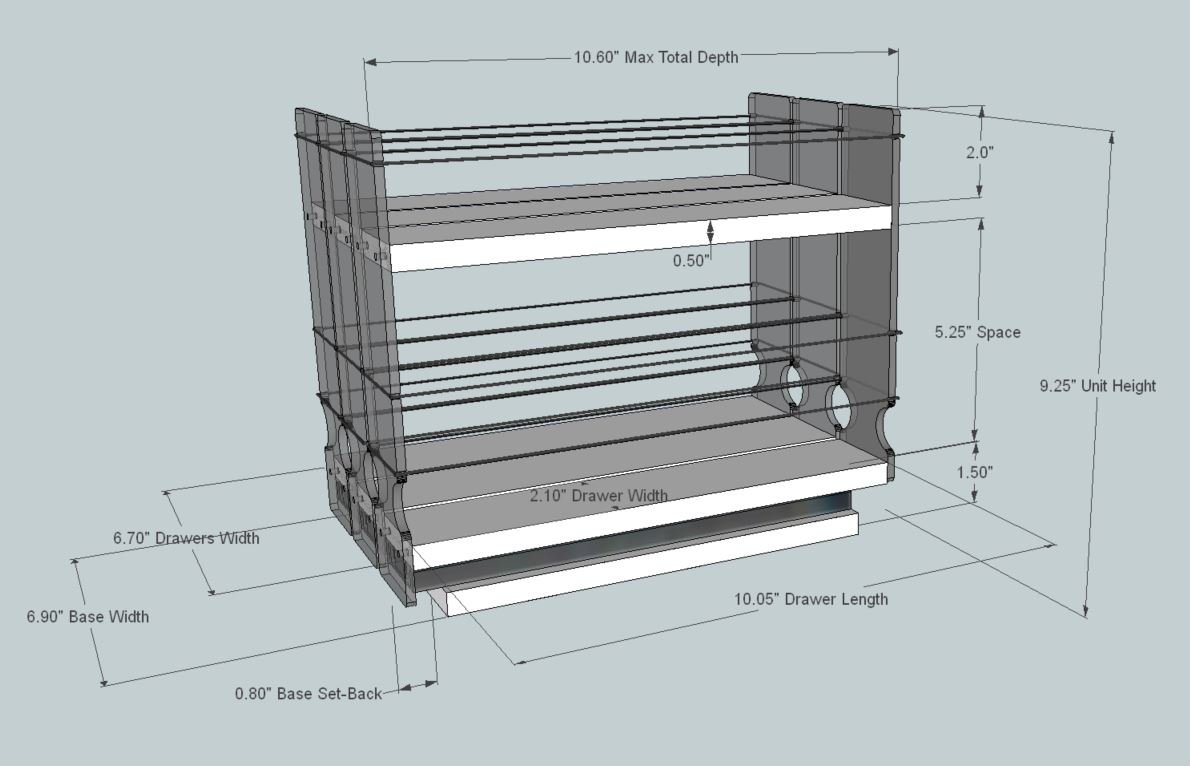 Amazon.com: Vertical Spice - 222x1.5x11 DC - Spice Rack - 3 Drawers ...