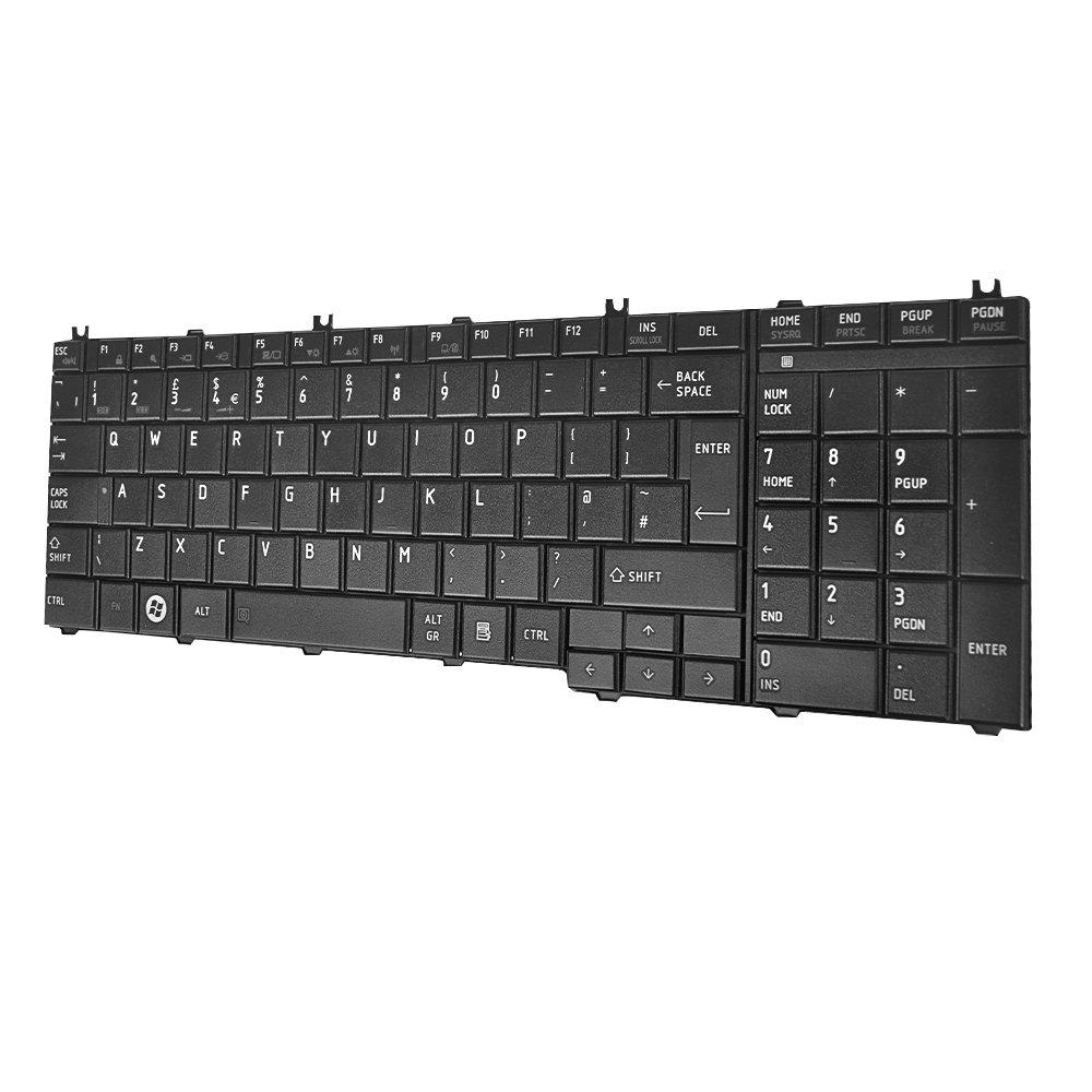 Original New For Toshiba 9Z.N4WSQ.00U AEBL6E00020-EN UK Black Keyboard