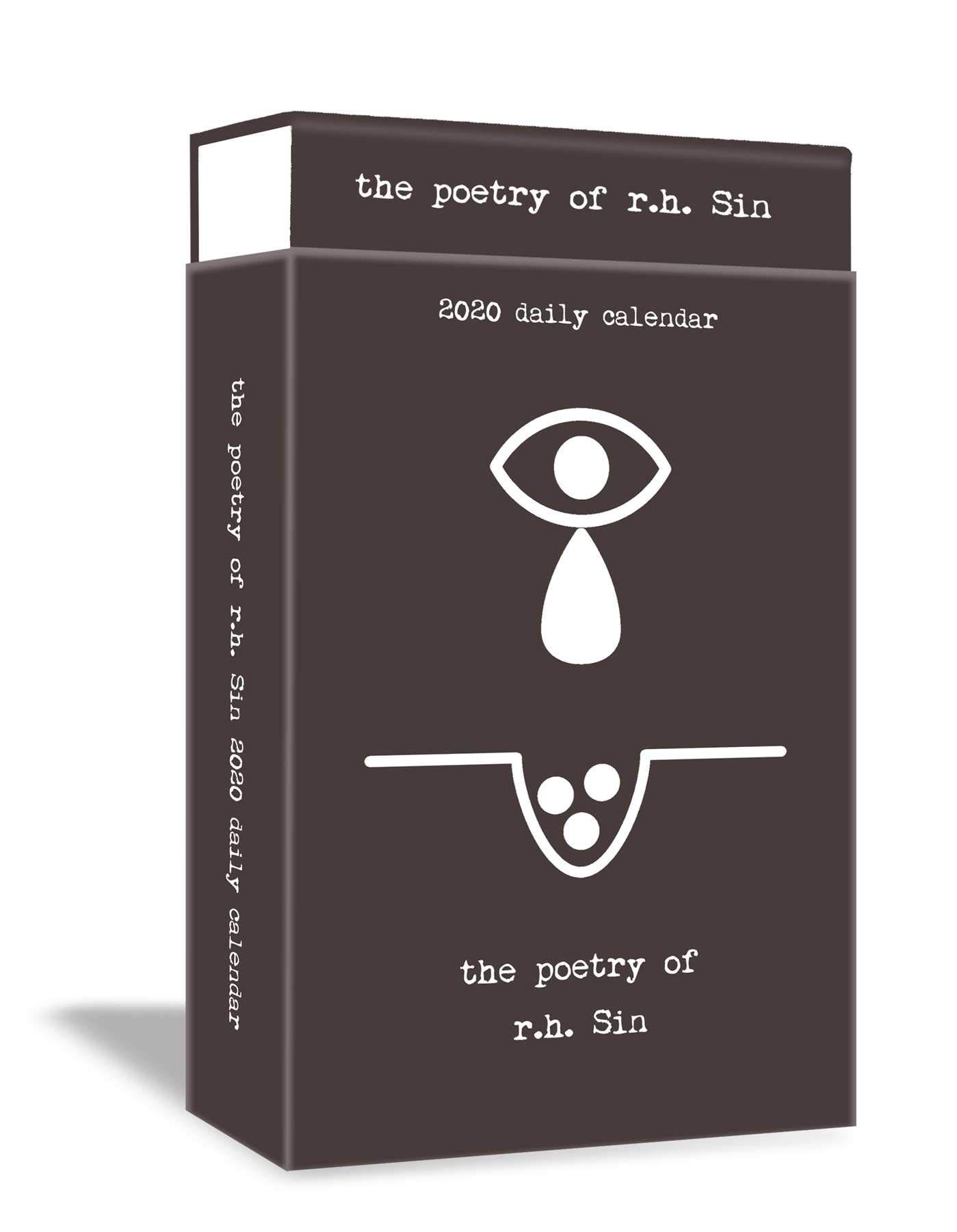 Best American Poetry 2020 Poetry of r.h. Sin 2020 Deluxe Day to Day Calendar: r.h. Sin