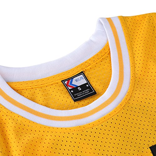 MOLPE Smith  14 Bel Air Academy Yellow Basketball Jersey - Import It All 7c9f79cd4