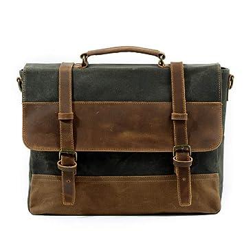 DADDYY New Waterproof Briefcase European and American Men s Retro Business  Bag Shoulder Slung Handbag,Graygreen 64117af1f0