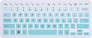 ikammo Keyboard Cover Compatible with Dell 2019 Inspiron 14 inch 5000 Series 5482/5481(2 in 1),i5379 i5482 i5481 i5485 & Dell Inspiron 13 15 5368 7368 i5368 i7368 7568 7569 (Ombre Hotblue)