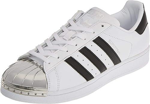 adidas superstar metal toe blanc