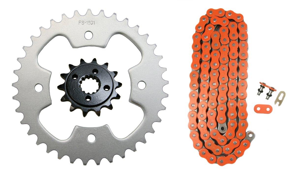 Factory Spec K16571691520OOR94 Orange 520x94 O-Ring Drive Chain /& 14//37 Sprockets 2003-2004 Polaris Predator 500