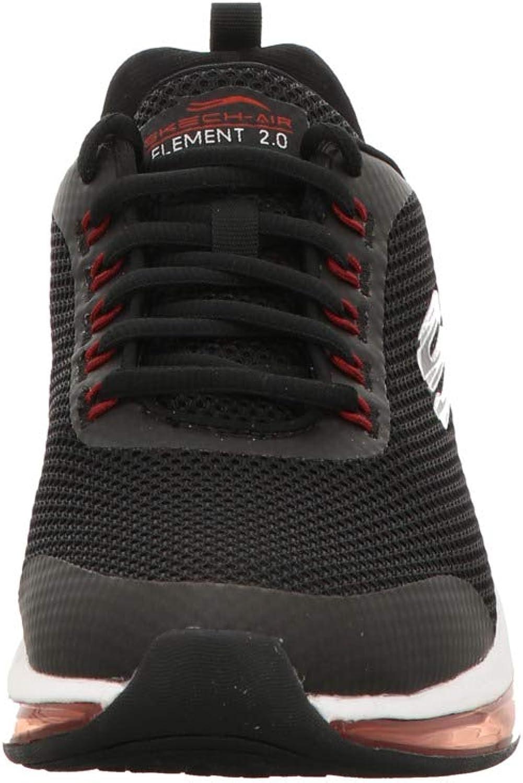 Skechers Herren Skech-air Element 2.0 Sneaker, blau Blau Black Mesh Red Synthetic Trim Bkrd