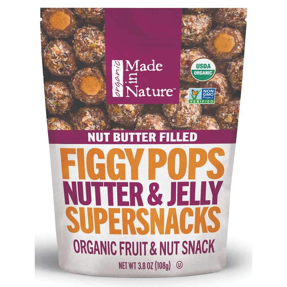 Made in Nature Nutter and Jelly Nut Butter Filled Fig Pops, 3.8 Ounce -- 6 per case.