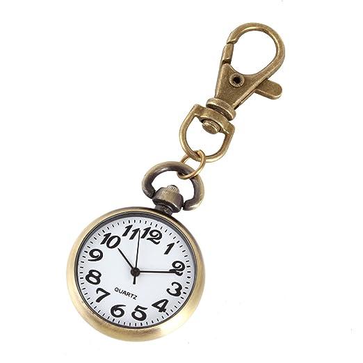 XR clásica redonda llavero reloj reloj de bolsillo colgante ...