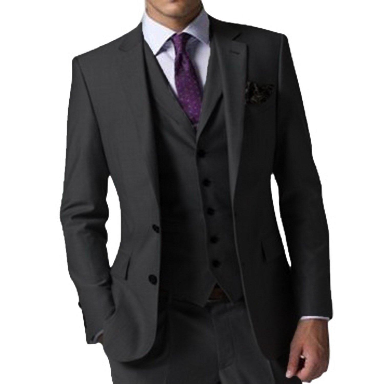 (エブレドレス)everydress カジュアルスーツ メンズスーツ 3ピース スリム オシャレスーツメンズ 紳士服 スーツ 結婚式 メンズ B078RKTJ5Q XXXXXX-Large|ブラック ブラック XXXXXX-Large