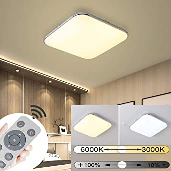 18W Dimmbar LED Deckenleuchte Sternen Badleuchte Küch Deckenlampe Wohnzimmer Neu