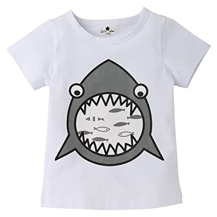 feiXIANG Ropa de bebé recién Nacido Niños Primavera Verano Niños Niñas Bebés Niños Niños Camiseta de