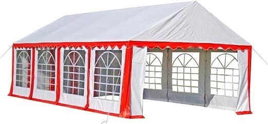 FZYHFA Pérgola de Fiesta 8 x 4 m Rojo Carpa Plegable Carpa Eurolandia Carpa Impermeable: Amazon.es: Jardín