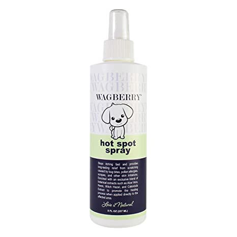 Wagberry Soothing Hot Spot Spray Natural Remedy For Dry And Itchy Skin Antiseptic Antifungal And Anti Itch Spray For Dogs Love It Natural Made