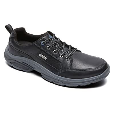 Rockport Men Weather Adventure Blucher Oxford Waterproof Shoe, Black, US 7