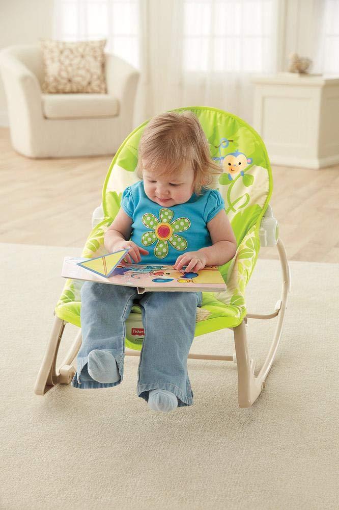 Fisher-Price Hamaca crece conmigo monitos divertidos, silla para bebé (Mattel CBF52)