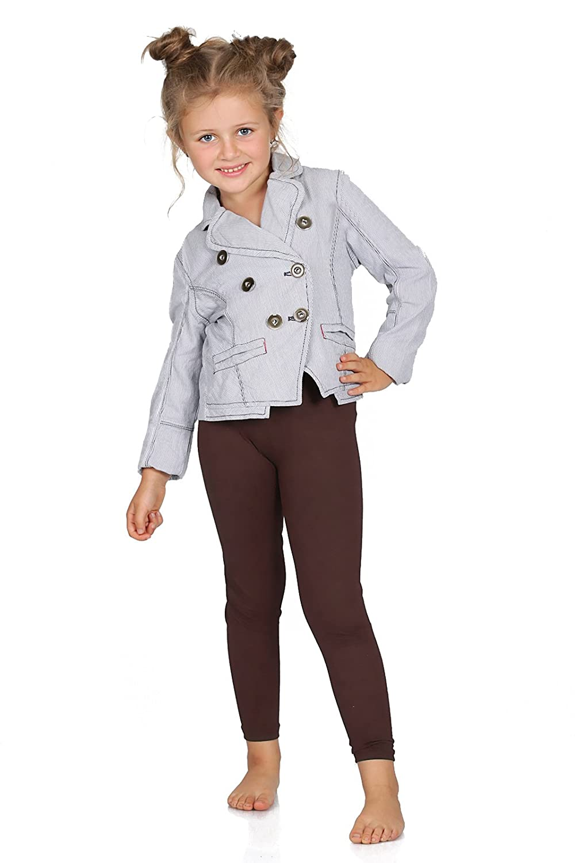 Futuro Fashion Full Length Cotton Girls Leggings Plain Pants for Kids Red Leggings Age 2