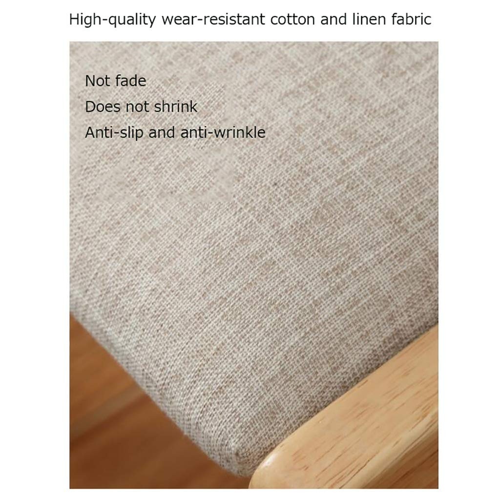 ZWJLIZI Matstol, hem massivt trä + bomull och linne kudde träfärgad skrivbordsstol, sovrum vardagsrum loungestol (färg: C) en