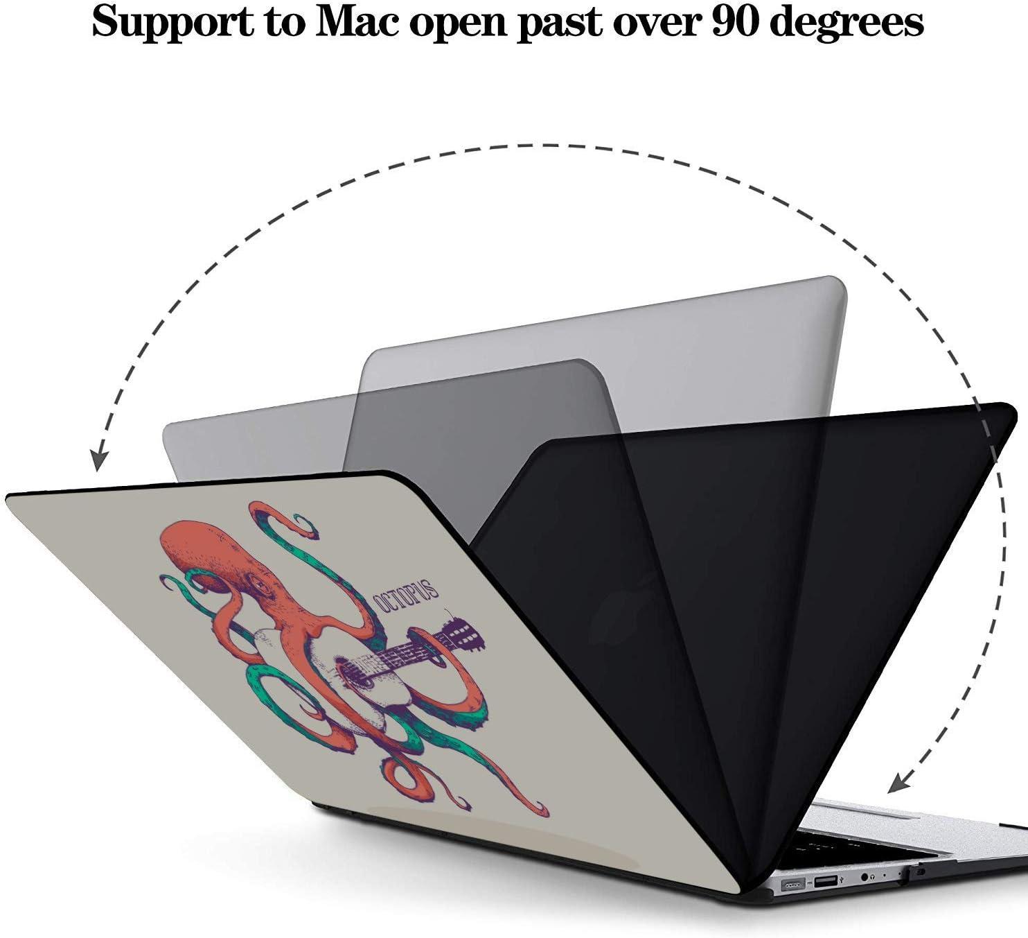 13inch MacBook Pro Case Cartoon Sea Ocean Octopus Character Plastic Hard Shell Compatible Mac Air 11 Pro 13 15 MacBook Pro A1989 Case Protection for MacBook 2016-2019 Version
