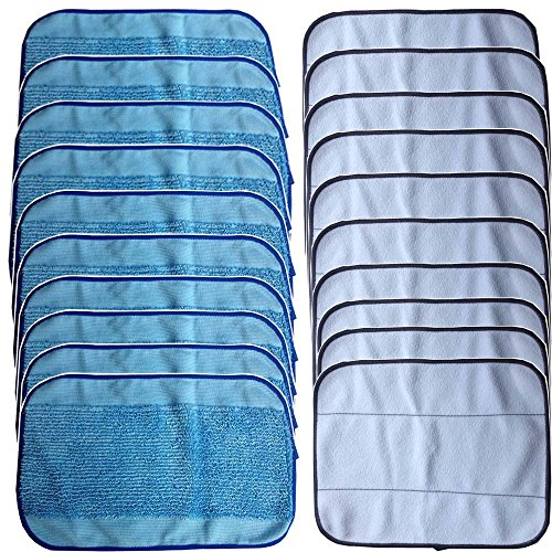 DerBlue 20 Pack Microfiber Mopping Cloths