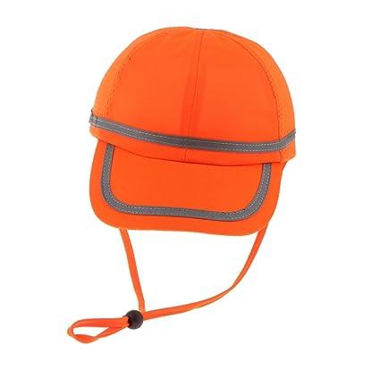 MagiDeal Sombrero de Béisbol Trabajo Gorra Proteger Cabeza Accesorios  Multiusos - Rejilla naranja fluorescente 069a6bdbdfe