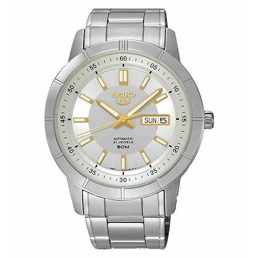 Seiko SNKN53K1 - Reloj de Pulsera para Hombre, Plateado: Amazon.es: Relojes