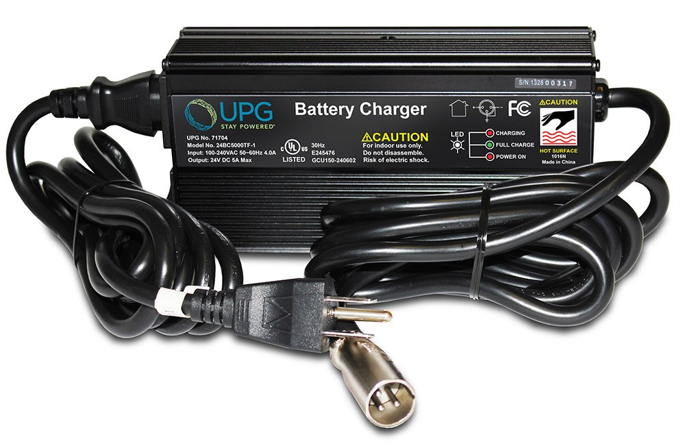 24V 5Amp XLR Scooter Charger for Golden Technologies Compass GP600