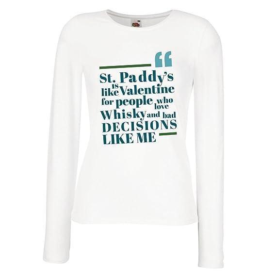 Camisetas de Manga Larga para Mujer Funny Irish Sayings, St Patricks - St. Paddys