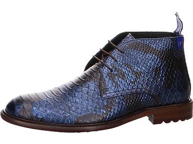 FLORIS VAN BOMMEL Herren Schuhe Stiefeletten Boots olivgrün croco Gr. 44