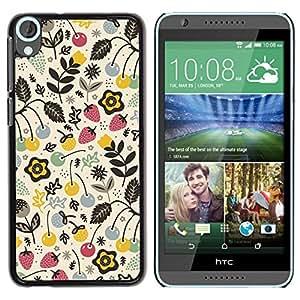 Be Good Phone Accessory // Dura Cáscara cubierta Protectora Caso Carcasa Funda de Protección para HTC Desire 820 // Summer Berries Nature Strawberry Drawing