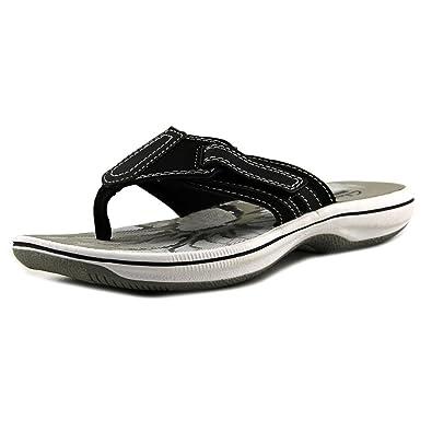979261ba45de CLARKS Womens Brinkley JoJo Open Toe Casual Flip Flops