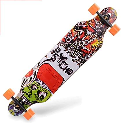 Patineta de Cuatro Ruedas para Adultos Longboard Skateboard Road ...