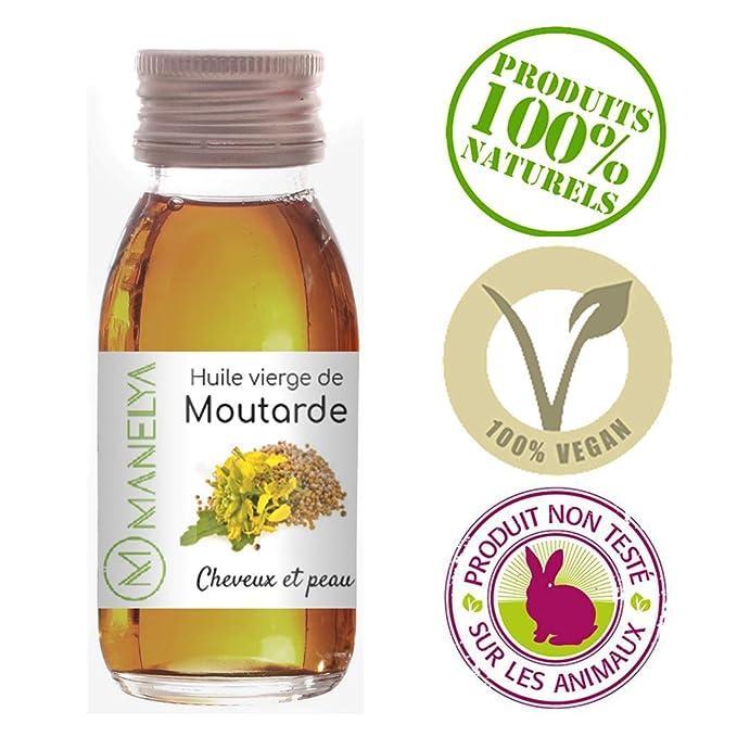 Aceite orgánico de mostaza 60 ml - 100% puro y natural - Cuidado ...
