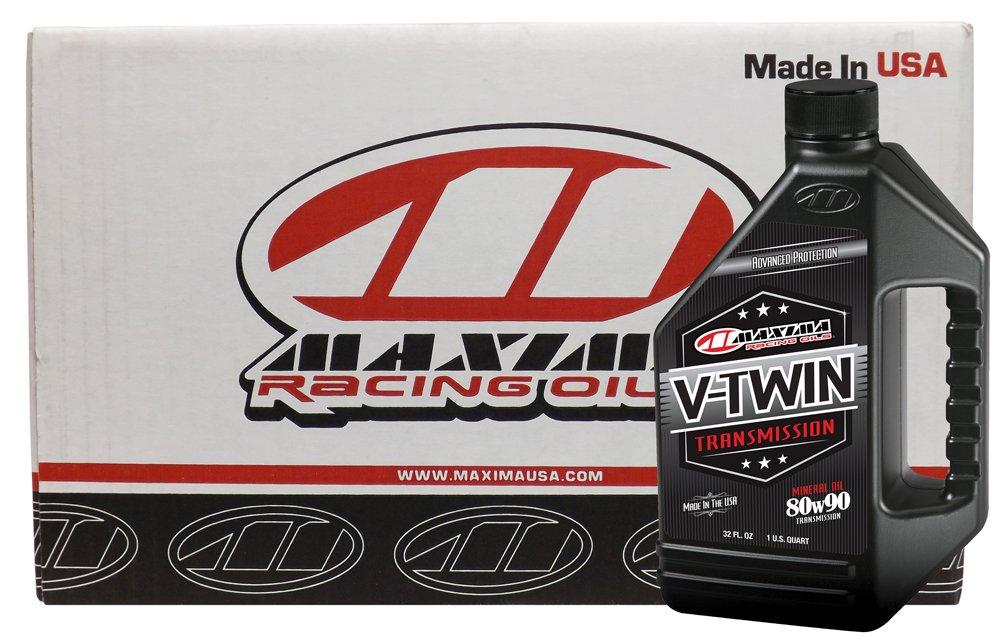 Maxima Racing Oils CS40-02901-12PK-12PK 80W-90 V-Twin Transmission/Gear Oil - 384 oz., (Pack of 12) by Maxima