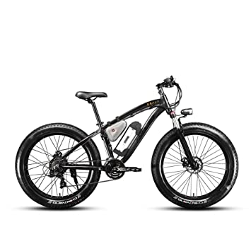 7f5daa649ae Cyrusher NINJA Electric Mountain Bike Fat Tire with Lithium Battery and  Battery Charger, Electric Bicycles - Amazon Canada