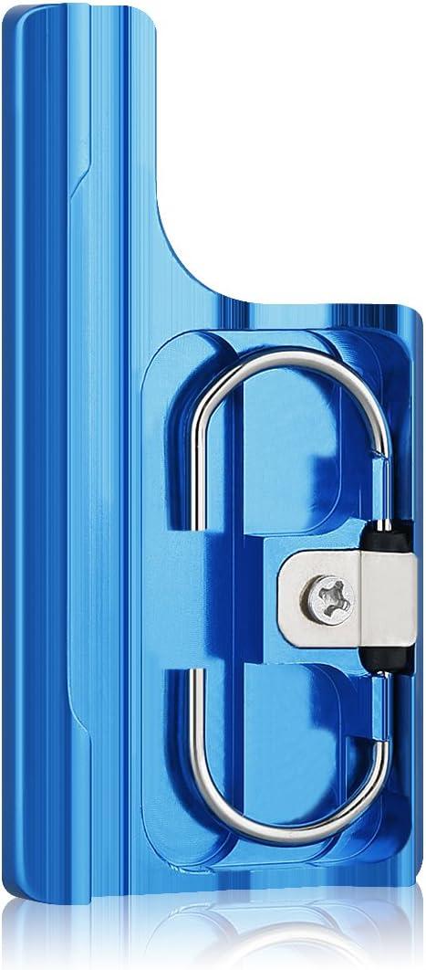 Sametop Aluminum Replacement Latch Rear Snap Lock Buckle Compatible with Gopro Hero 4 Hero 3+ Cameras Standard Waterproof Skeleton Housing (Blue)