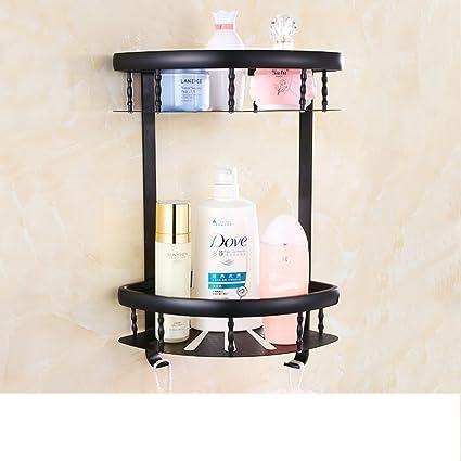 Continental baño negro doblado toallero/desorbitarte de toallas/hardware/Estante del baño del