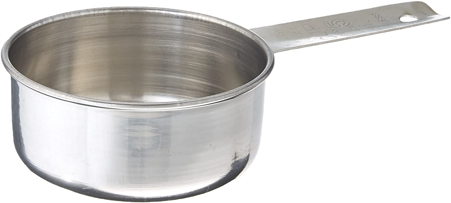 Tablecraft 1/2 Cup Stainless Steel Measuring Cup