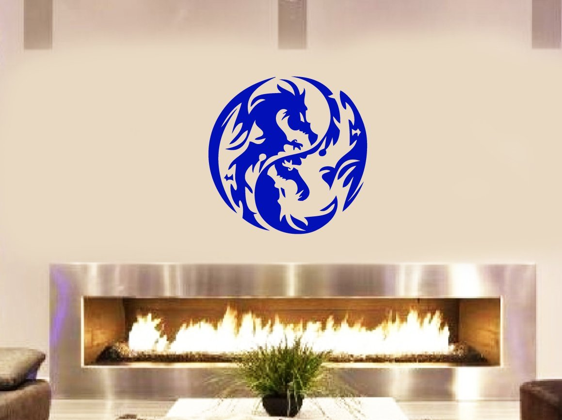dragon yin yang tribal decal vinyl removable decorative sticker