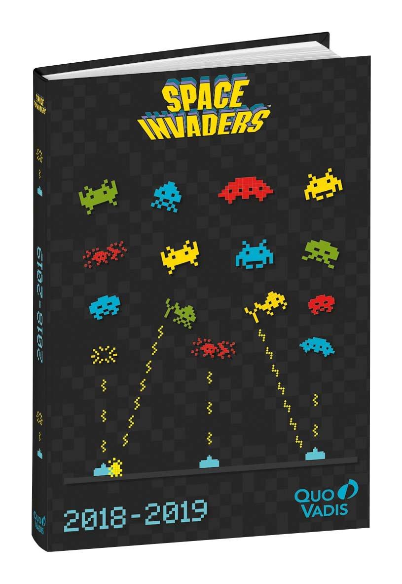 Quo Vadis Space invaders TEXTAGENDA Agenda scolaire Journalier 12x17cm Anné e 2018-2019 0291667Q
