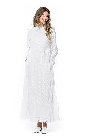 6803315770e ModWhite Magnolia White Temple Dress at Amazon Women s Clothing store