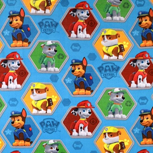 Nickelodeon Paw Patrol Rescue Blue Fleece Fabric - By the Yard