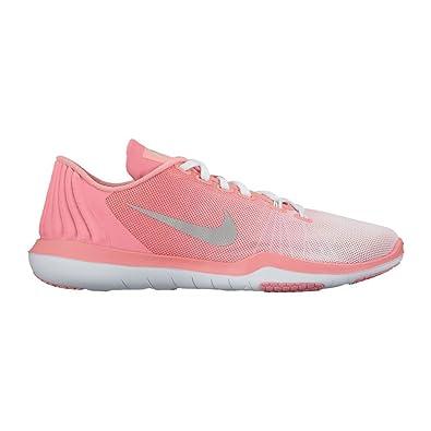 Nike Womens Flex Supreme TR PRM Training Shoe WhiteMatte SilverBright  Melon