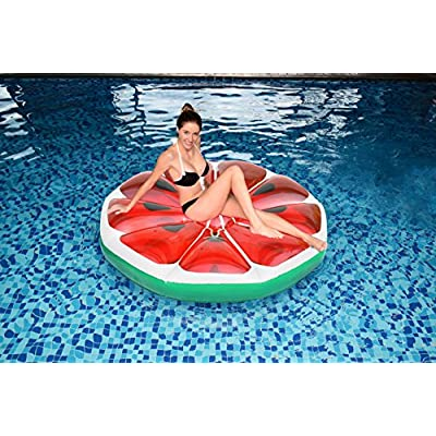 Matney Inflatable Pool Float Watermelon — Perfect Lounger, Raft, Float for Pools, Lakes, Beaches, and Rivers — Great for Backyard, Pool Parties, Picnics, and More: Toys & Games