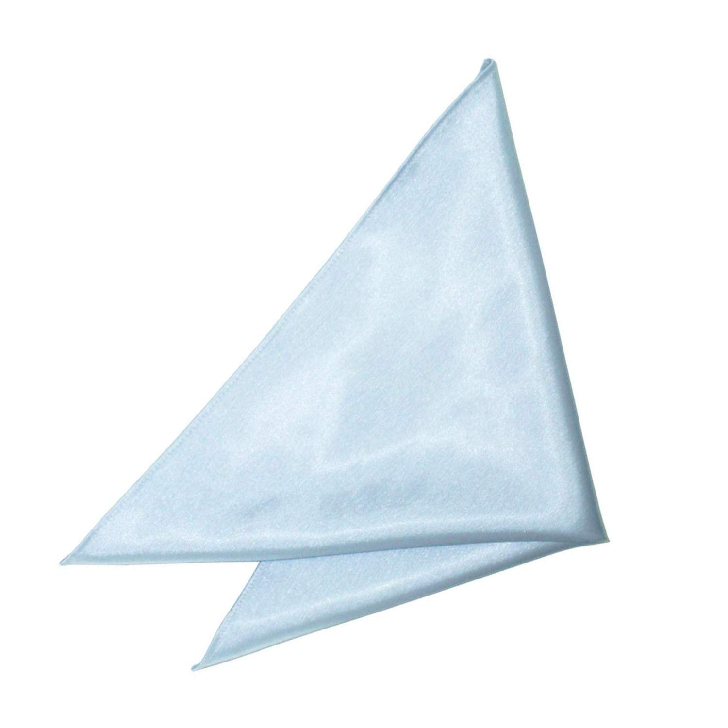Satin Handkerchief for Men -Italian Square Pocket Hanky for Weddings, Prom and Parties - Soft Polyester Kerchief for Special and Formal Occasions - Elegant Accessory with Solid Plain Colour Design