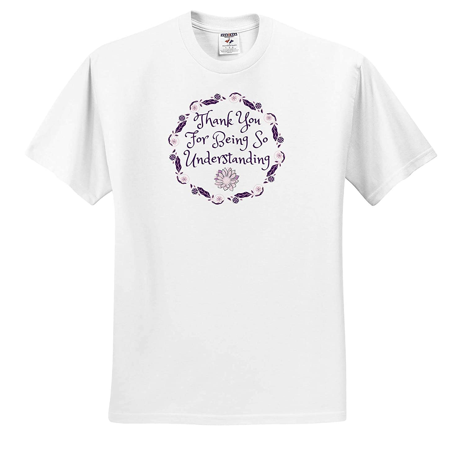 Image of Thank You for Being So Understanding Adult T-Shirt XL 3dRose Carrie Merchant Image Quote ts/_317458
