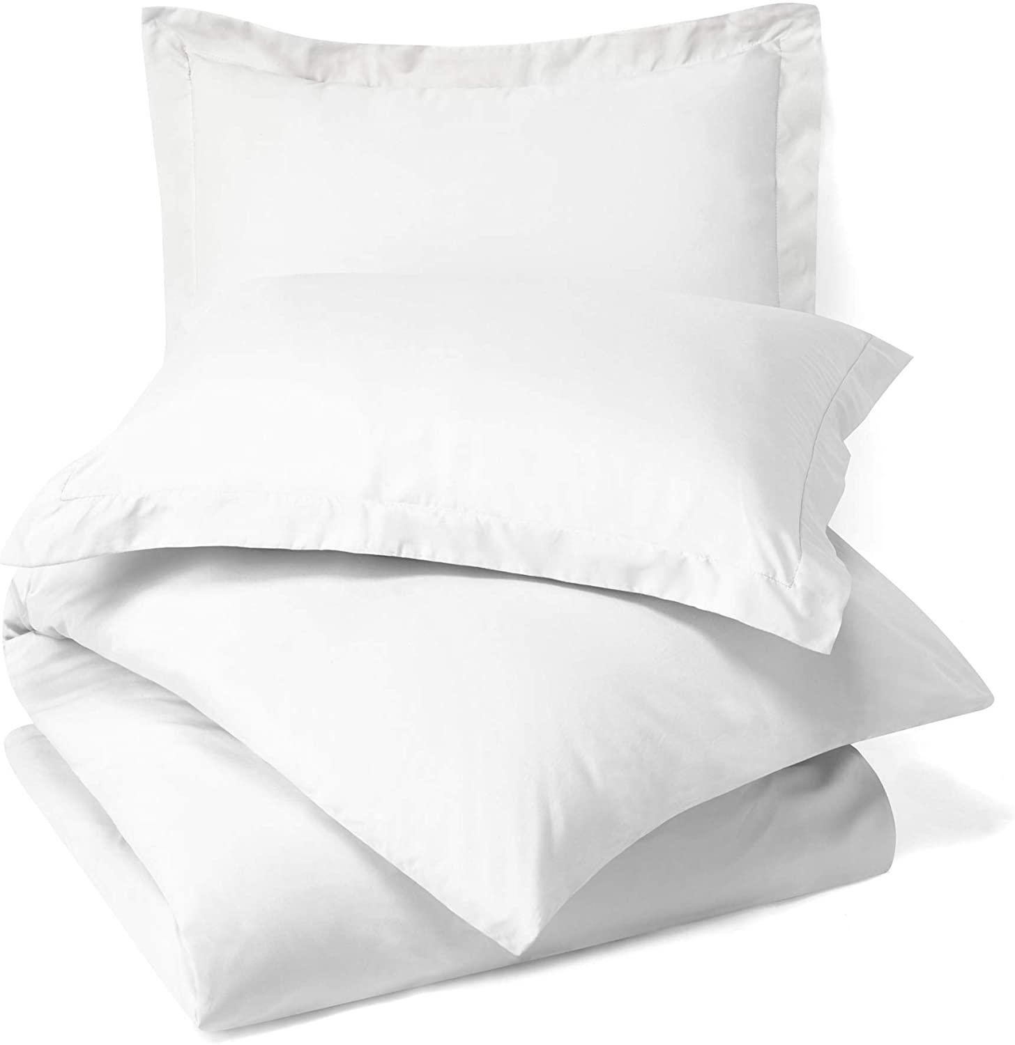 Fitted Sheet Nestl Bedding Duvet Cover with Fitted Sheet 3 Piece Set Twin XL Soft Double Brushed Microfiber Hotel Collection 1 Pillow Sham White Comforter Cover with Button Closure