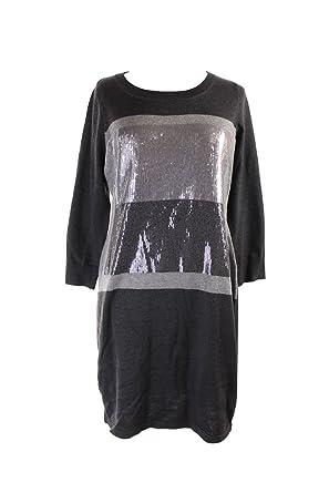 e6a851f3139 Calvin Klein Women s Colorblock Sequin Front Sweater Dress (L ...