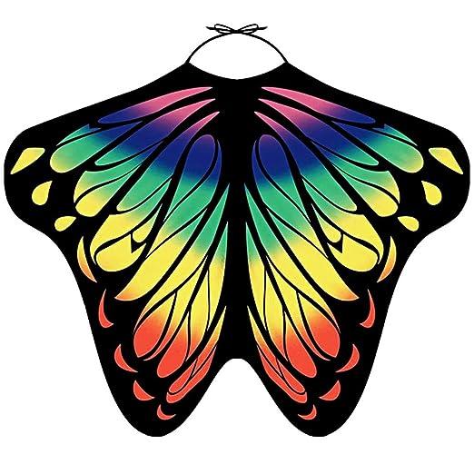 4ea6477105 LIVEBOX Women's Swimwear Bikini Beach Cover Ups Butterfly Wings Shape  Chiffon Sarong Pareo Scarf Swimsuit Shawl